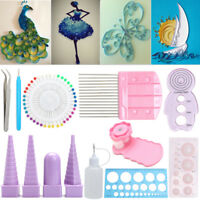 11in1 Starter Handmade Quilling Paper Kits Cork DIY Craft Workboard Slotted Tool