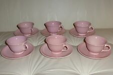 Luray Pastels Pink by Taylor, Smith & T (TS&T) Set of 6 Cups and Saucers