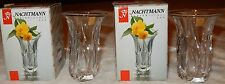 2 New Small Nachtmann Crystal Vases Krokus Made in Germany