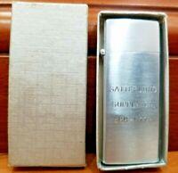 "Vintage Barlow Working Advertising ""SATTERLUND SUPPLY CO."" Silver Lighter B17"