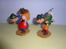 2 Alte Werbefiguren, Wackelköpfe, Mayrhofen i. Z. Vintage 70er Jahre, rar 8-9 cm