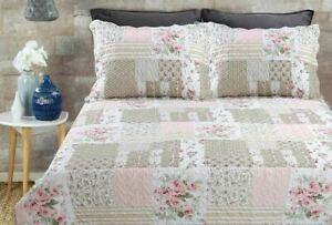 Bedding Heaven® PATCHWORK BEDSPREAD & PILLOW SHAMS - 264 x 264 cm - King