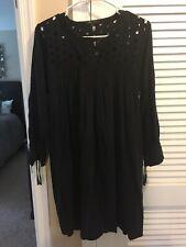 Madewell Long Sleeve Black Cut Out Dress Beautiful Small