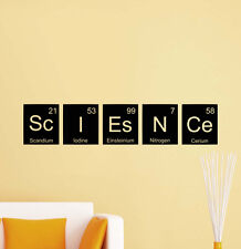 Science Wall Decal School Decor Quote Vinyl Sticker Periodic Table Poster 600