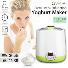 New Flora Automatic Yoghurt Maker  Rice Wine Machine 1L FDA APP LED Control