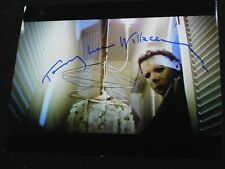 TOMMY LEE WALLACE  Signed Michael Myers 8x10 Photo Halloween SHAPE Autograph A