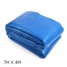 Aquabuddy PC70X40MBL 7m x 4m Solar Swimming Pool Cover - Blue