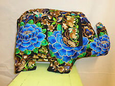 """COUSSIN ETHNIQUE """" ELEPHANT """" BRODE H' MONG NEUF/ ELEPHANT CUSHION  EMBROIDERED"""
