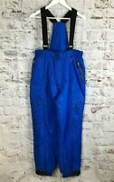 Rodeo Large Blue Salopettes Ski Trousers Thinsulate C&A Vintage Snowboard L Snow