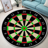 Round Dart Board Floor Mat Living Room Area Rug Yoga Fabric Carpet Home