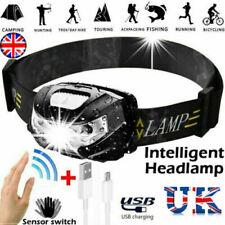 Waterproof Headlight Super Bright Head Torch LED USB Rechargeable Headlamp Fish