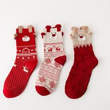 Christmas Socks Ladies Girls Soft Fluffy Socks Warm Winter Xmas Funny Socks 2018