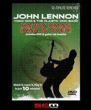 10-MINUTE TEACHER GUITAR DVD LEARN TO PLAY JOHN LENNON HAPPY XMAS WAR IS OVER