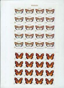 RWANDA Butterflies Wildlife Set MNH x 40 (320 Stamps) NS 389