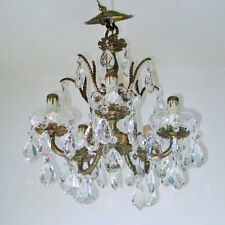 Petite 5 Arm Crystal Prisms Chandelier