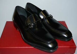 Salvatore Ferragamo Mens 'Fenice' Black Leather Dress Shoes 10 EEE (43 EU)