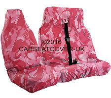 Toyota Hiace (83-12) URBAN PINK Camo CAMOUFLAGE Waterproof VAN Seat COVERS 2+1