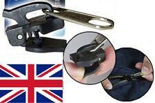 Universal Zipper Heads Pack of 6 Clothing Suitcase Magic Zipper Fixers uk black