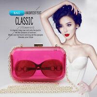 Solid Evening Bag Clutches Party Shoulderl Handbag Women's Wallet Acrylic Purse