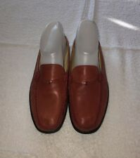 """""""Beautiful Coral"""" Sudini Woman's Slip On Mules Shoes Size 8 M ~Soft Leather"""""""