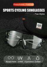 CATEYE Photochromic/UV400 Lense Cycling Sunglasses Eyewear with Myopia Frame