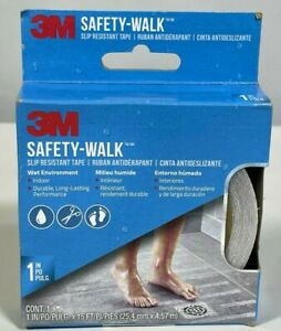 """BRAND NEW 3M Safety-Walk Tub & Shower Tread Tape 1"""" x 180"""" 15ft Clear 7640"""