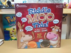 Learning Resources Riddle Moo This A Silly Riddle Word Game Ages 5 And Up