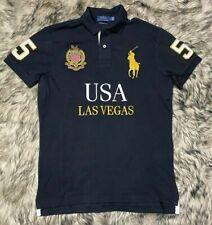 "Polo Ralph Lauren Slim Fit Men's Polo Shirt Sz L ""Las Vegas""Big Pony Embroidered"