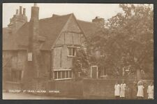 Postcard Chalfont St Giles nr Amersham children outside Miltons Cottage early RP