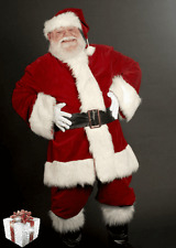 LUXURY DELUXE DEEP RED VELVET SANTA SUIT...PROFESSIONAL FATHER CHRISTMAS COSTUME