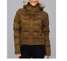 Marmot Women's Helsinki 700 Down Ski Jacket Puffer Bomber Coat Olive M
