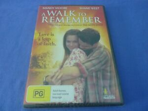 A Walk To Remember DVD Mandy Moore Shane West R0 New Sealed Free Postage