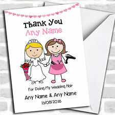 Thank You For Being Our Wedding Hairdresser Thank You Customised Card