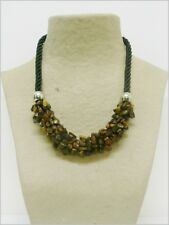 Ojo de Tigre collar de minerales, Tiger Eye necklace 114