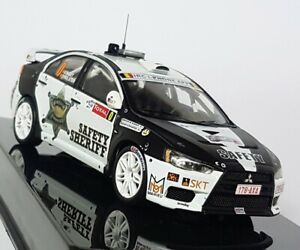 Ixo 1/43 Scale - RAM533 Mitsubishi Lancer Evo X Ypres Rally 2011 Model Car