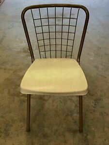Howell Mid Century Modern Vintage Metal Back Kitchen Dining Chair Retro Deco b