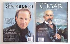 2 Cigar Aficionado Magazines J.P. Morgan & Tycoons shaped America, Cuba, Costner