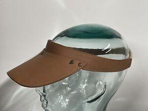 Helen Kaminski Abby Panama Leather Visor NWT New One Size