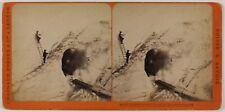 Grotte du Mont-Blanc Glacier des Bossons Photo Stereo Th1n33 VintageAlbumine