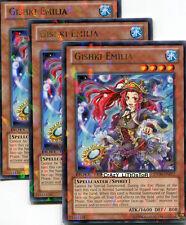 3 X YU-GI-OH GISHKI EMILIA DUEL TERMINAL SILVER RARE MINT DT06-EN077