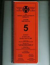 AT&SF (SANTA FE) ETT TIMETABLE SYSTEM #5 APRIL 16, 1995 LAST ATSF TIMETABLE.