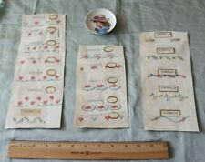 17 Antique Swiss Embroidery (Cross Stitch) Samples c1920s~Dolls,Roses