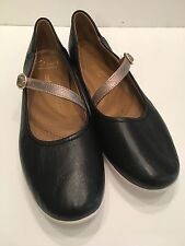Clarks Collection Women's Helina Amo Mary Jane Flats Size 7 M Black Leather NEW