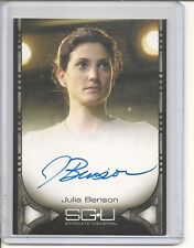 Stargate Universe Julia Benson auto card