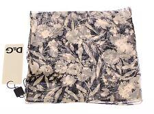 NWT $180 DOLCE & GABBANA D&G Multicolor Floral Silk Scarf Wrap 50 cm x 50 cm