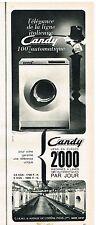 PUBLICITE ADVERTISING  1963   CANDY   lave linge