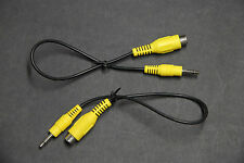 2 PCS 1 ft Headphone Jack Plug 3.5mm Aux in to 1 Female RCA video Y Cord Cable