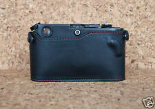 Zhou Black Half Case Red Stitching w/o ASA cutout for Leica M2 M3 M4 M5 M6 M7 MP