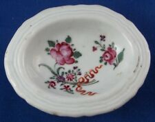Rare 18thC Chinese Export Porcelain Open Salt Dish Porzellan Salznaepfchen China