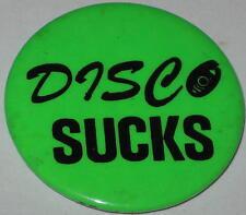 "1970's Disco Sucks Pin - Green 1.75"""